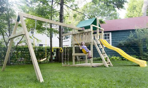How To Build A Backyard Playground by Backyard Playground Traditional New York