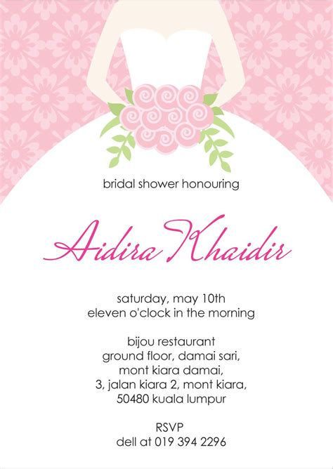 Bridal Shower Invitation Verbiage Bridal Shower Bridal Shower Invitation Templates