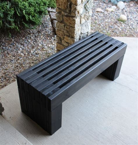 black wooden bench outdoor ana white modern slat top outdoor wood bench diy projects