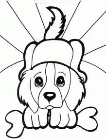 puppy coloring page printable dogs coloring pages to