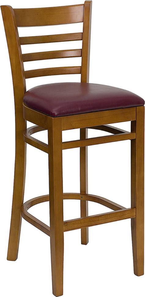 Gladiator Commercial Bar Stools by Gladiator Commercial Wooden Cherry Ladder Back Restaurant