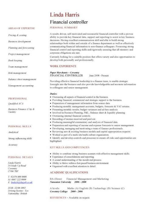 Resume Format For Jobs In Australia by Financial Cv Template Business Administration Cv