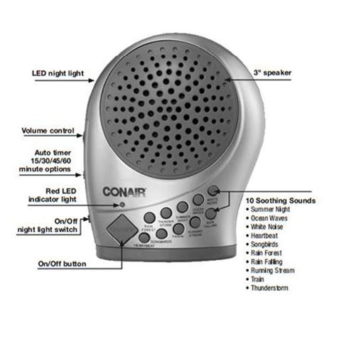 conair light therapy for psoriasis conair silver sound therapy machine with night light