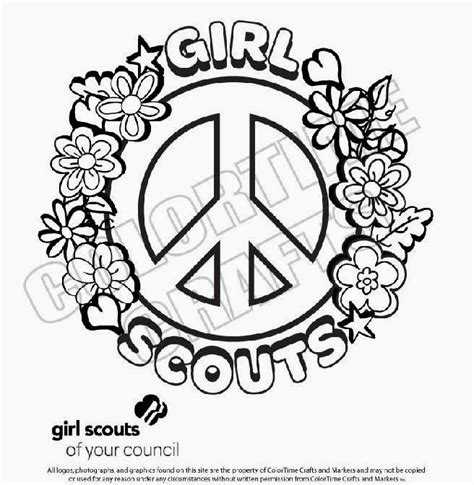 coloring pages for daisy girl scouts girl scout coloring pages printable sketch coloring page
