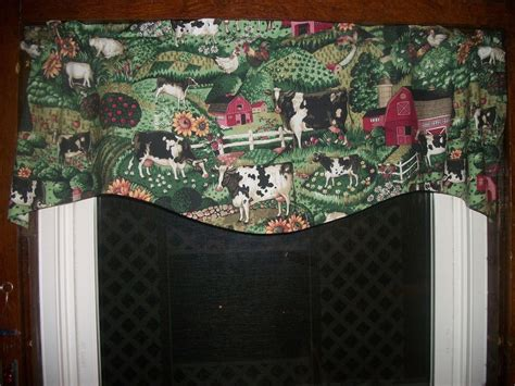 country apple curtains cow chicken rooster farm sunflower apple country kitchen