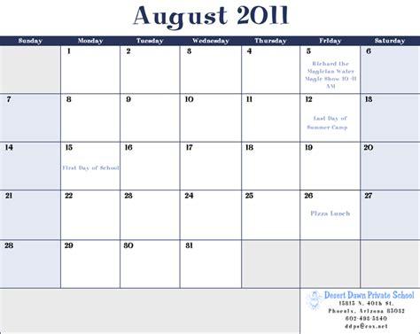 August 2011 Calendar Calendar August 2011 Html