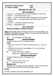 macmillan language book 1 worksheets revision sheet unit 1 for macmillan grade 5
