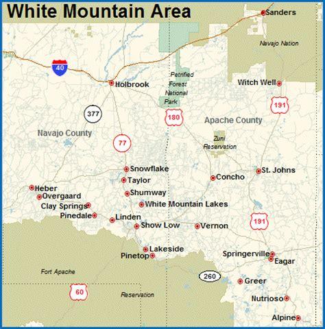 white mountains arizona map white mountains az real estate for sale area info from