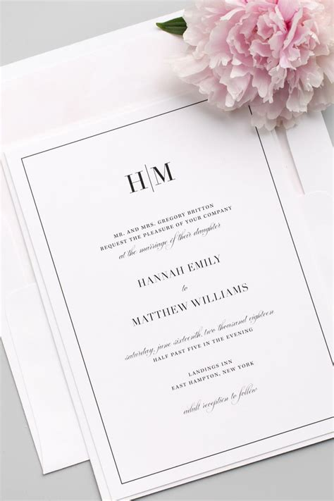 sheer initial wedding invitations glam monogram wedding invitations