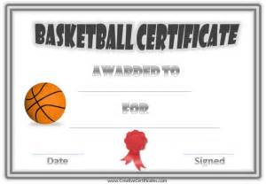 basketball award certificate templates 10 best images of blank award certificate templates for