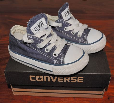 baby converse shoes infant boys blue converse all plimsolls uk 5