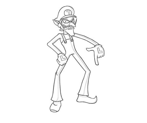 waluigi coloring pages coloring home