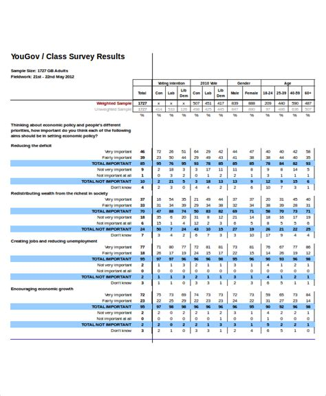 survey results template excel survey template 6 free excel documents