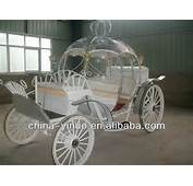Cinderella Horse Drawn Carriage Pumpkin Wedding Cartjpg