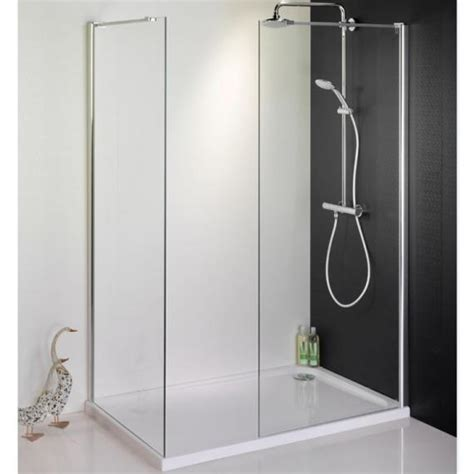 A 700 Shower by 1500 X 700 Walk In Shower Enclosure End Panel Tray