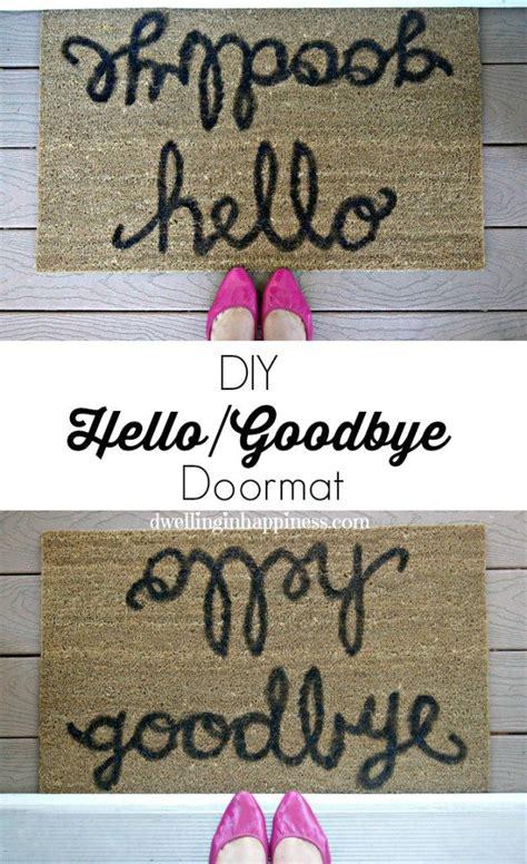 hellogoodbye doormat diy home
