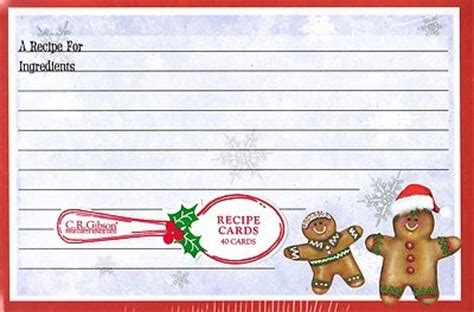 Gingerbread Recipe Card Template by 78 Images About Gingerbread Recipe Cards On
