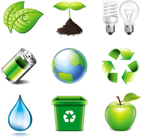 energy saving with eco icons vector material other icons