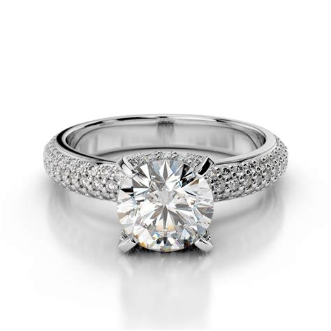 pave diamonds pav 233 engagement ring with prongs