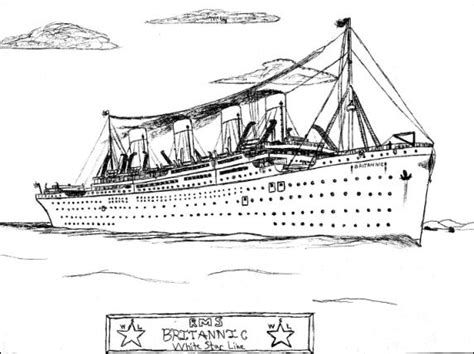 Britannic Coloring Pages 9 images of pages rms coloring titanic passesners titanic sinking coloring pages titanic