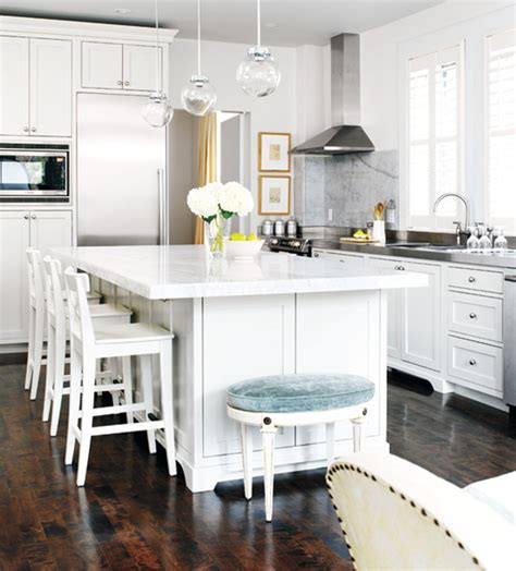 Marble Top Kitchen Island by Black Eiffel Another Gorgeous White Kitchen