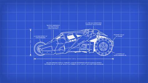 blue prints batman tumbler blueprint incredible desktop backgrounds