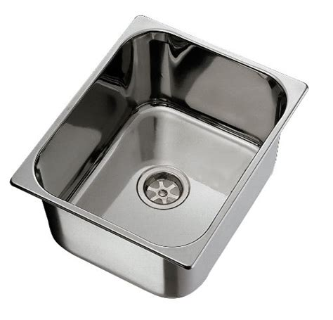 10 Wide Bar Sink by Ambassador Marine Rectangle Stainless Steel Brushed Finish