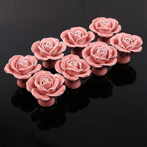 pink rose drawer pulls pink rose ceramic knobs kitchen cabinet drawer pulls