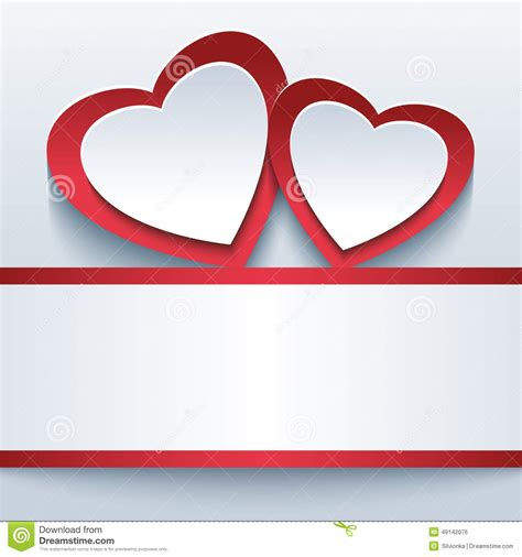 valentine background with two stylish love beautiful background with two 3d hearts stock vector