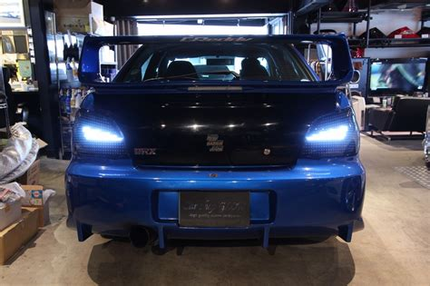 gda subaru car shop glow custom led lights smoked ver 1