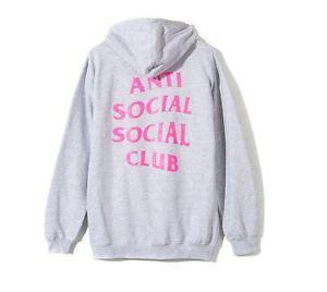 Hoodie Anti Social Social Club 14 anti social social club 2 wayz hoodie assc brand new gray