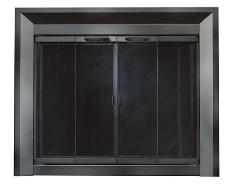black fireplace doors medium replacement