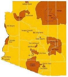 arizona tribes map map of arizona indian communities