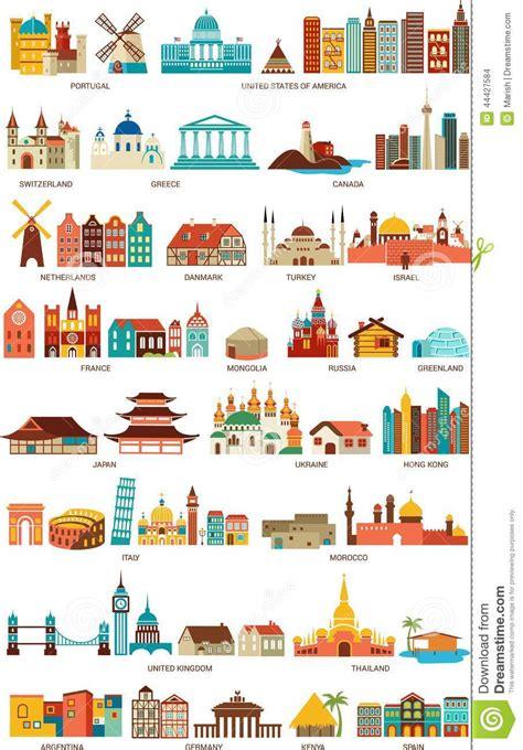 10 maisons traditionnelles du monde entier maisons du monde illustration de vecteur image 44427584