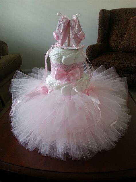Tutu Baby Shower Decorations by Three Tier Pink Tutu Cake Ballerina Baby Shower