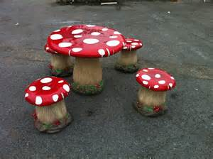 Garden Table And Chairs Plastic Mushroom Table Amp 4 Stools Jr Dd813026a The Jolly Roger