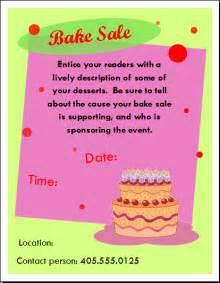 Bake sale template template sale flyer