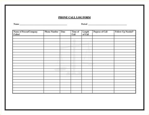 Phone Log Template Excel Sletemplatess Sletemplatess Excel Log Template