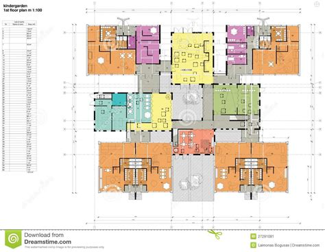 Floor Plan For Preschool Floor Plan Of The Kindergarten Stock Image Image 27291081