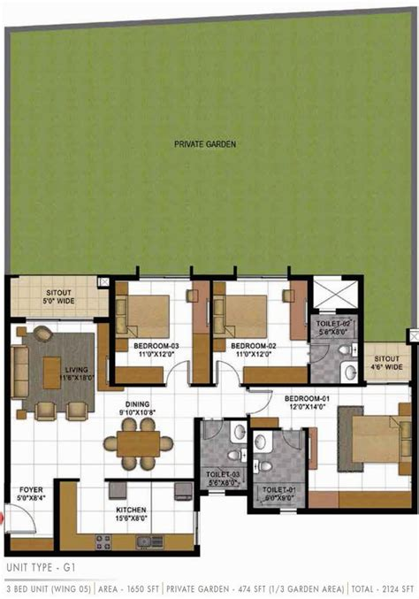 casa bella floor plan 2124 sq ft 3 bhk 3t apartment for sale in prestige group