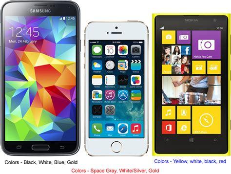 s5 colors samsung galaxy s5 vs apple iphone 5s vs nokia lumia icon