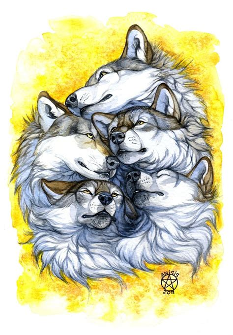 wolf pack tattoo by anisis рисунок deviantart wolf