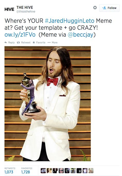 Jared Leto Meme - image 793375 jared leto hugging things know your meme
