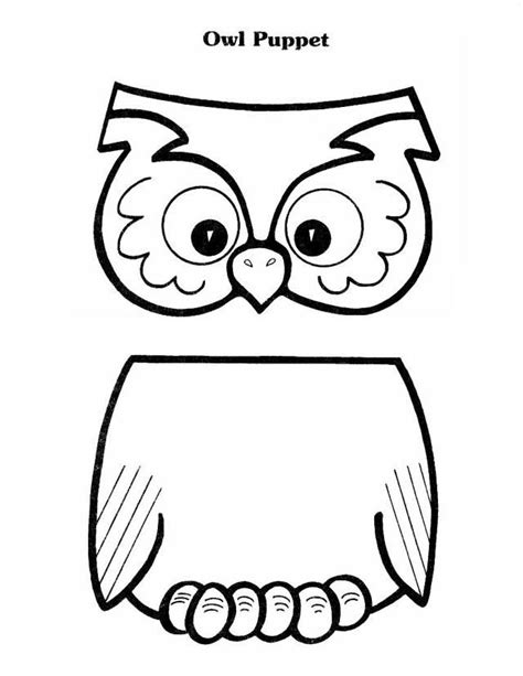 owl pattern worksheet owl puppet paper bag puppets pinterest owl