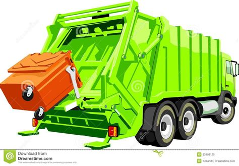 clipart rifiuti truck for trash stock vector illustration of waste city