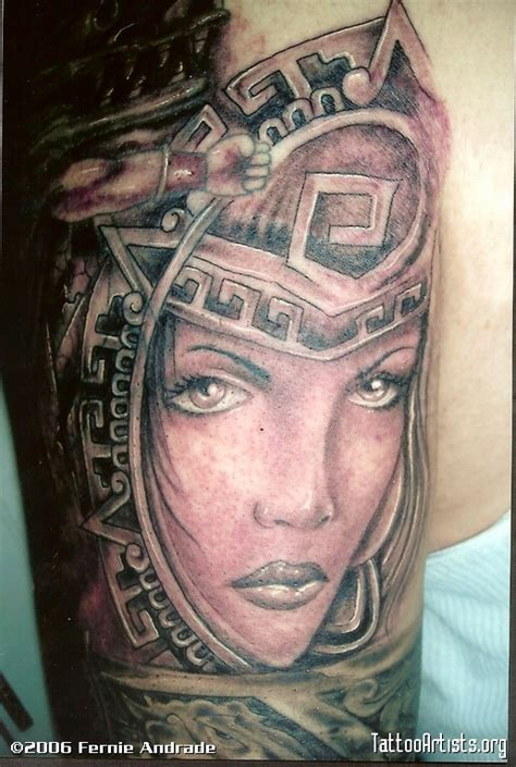 aztec girl tattoo aztec warrior artists org