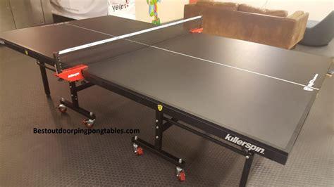 killerspin ping pong table killerspin myt7 black pocket table