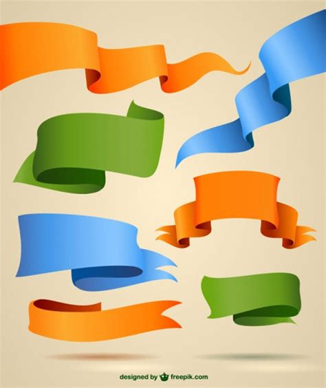 vector design graphics download free 29 modern ribbon vector freebies to download