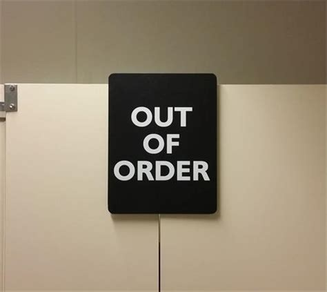 out of order bathroom sign out of order restroom stall sign