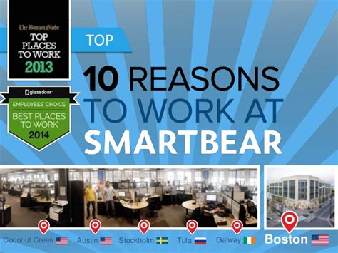 10 Reasons To Work by Top 10 Reasons To Work At Smartbear